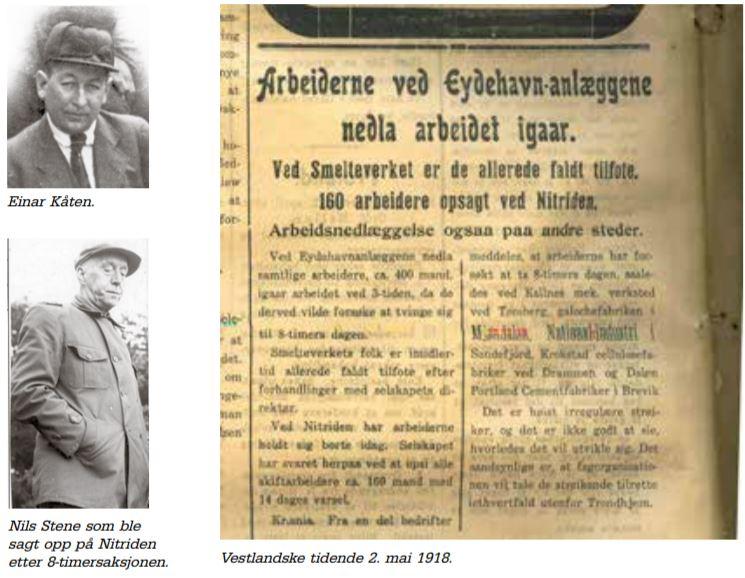 2. mai 1918: Da arbeiderne tok åttetimersdagen